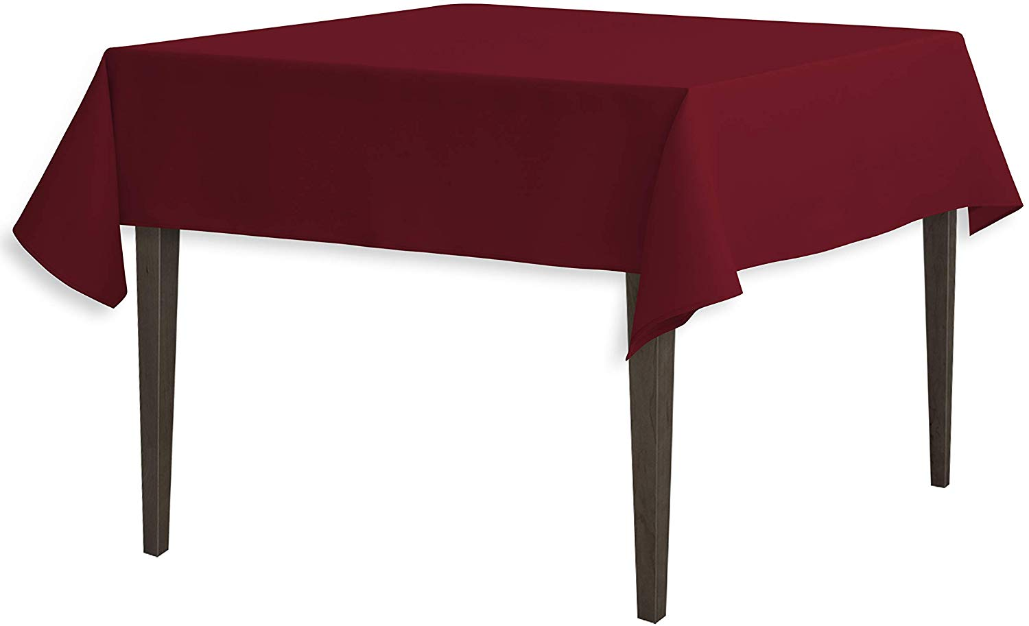 Qty 11 - 54-Inch Square Polyester Tablecloth Burgundy